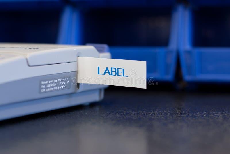 labelmaker zdjęcie royalty free