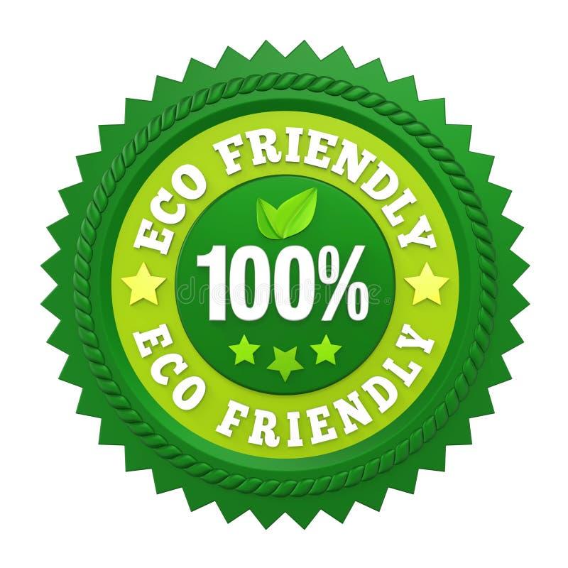 100% labels écologiques d'insigne d'isolement illustration stock