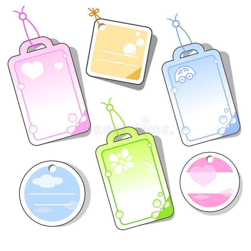 Labels vector illustration