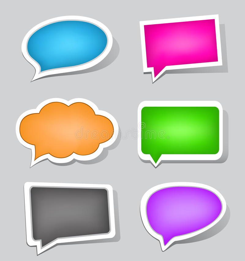 Download Labels stock vector. Image of empty, communication, chat - 26983390