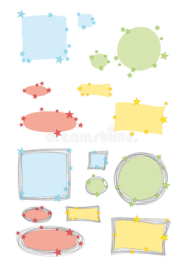 Download Labels stock vector. Image of frame, nice, oval, rectangular - 8271027