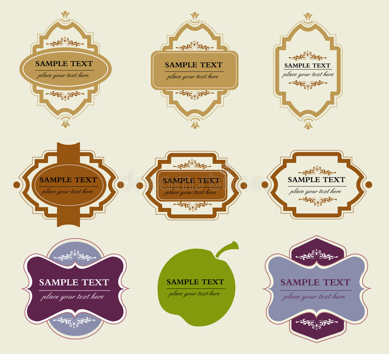 Labels collection vector illustration