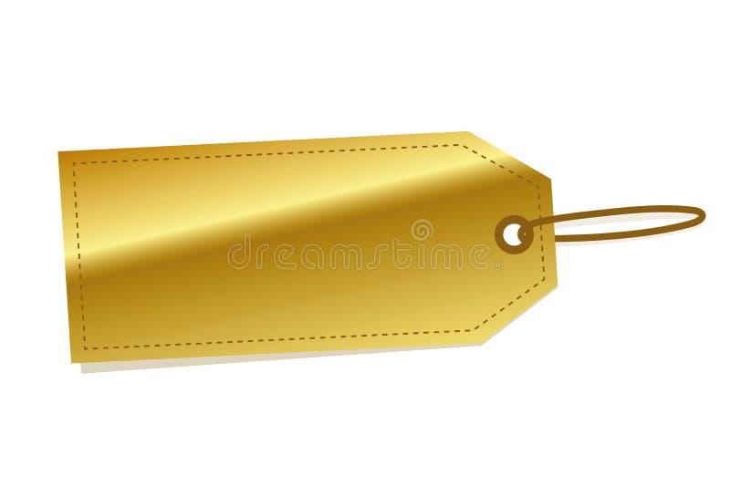 Labels d'or à vendre illustration de vecteur