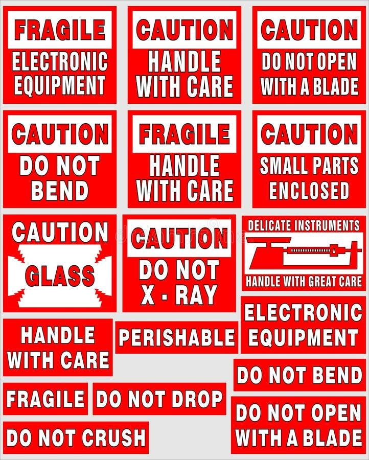 Labels d'expédition illustration de vecteur