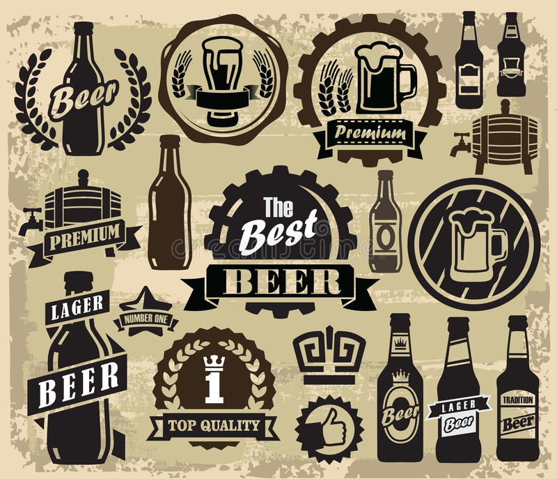 Labels de bar de bière illustration libre de droits