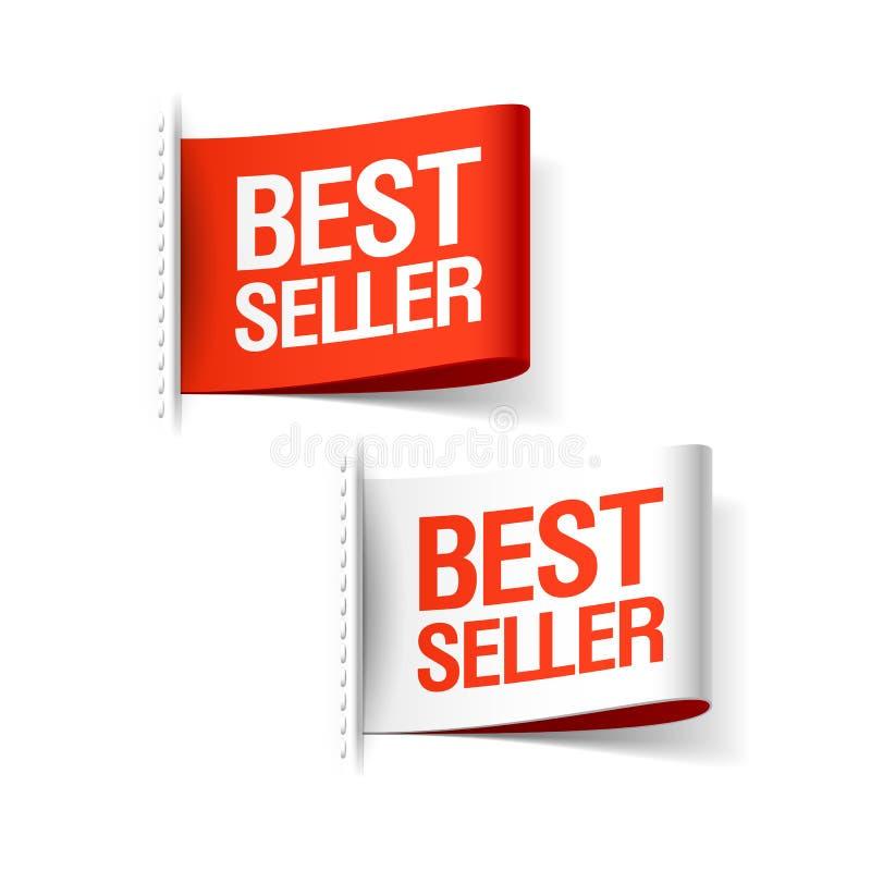 Labels de best-seller illustration de vecteur