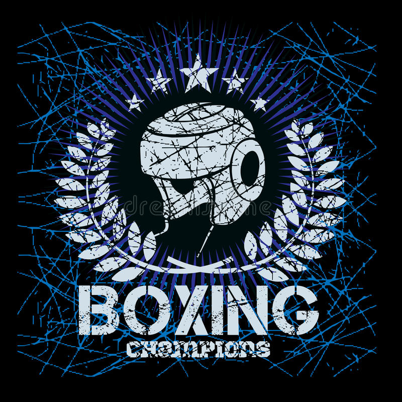 Labels de boxe sur le fond grunge illustration libre de droits