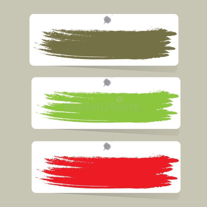 Labels de couleur, illustration de vecteur photographie stock libre de droits