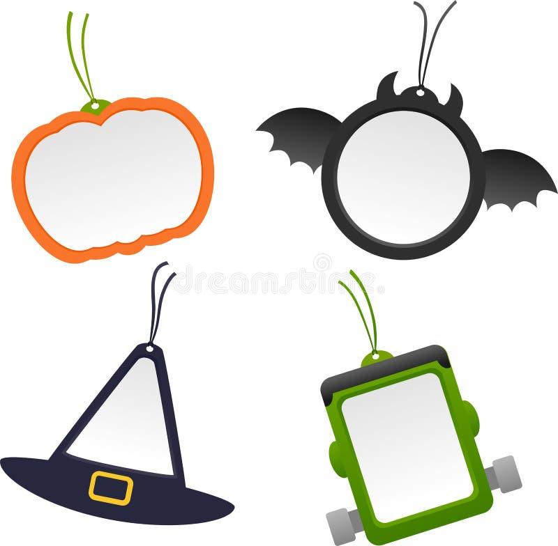 Labels de Halloween illustration de vecteur