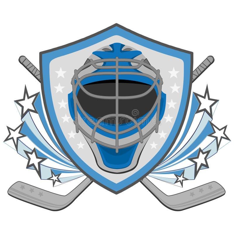 Labels de hockey sur glace, insignes illustration stock