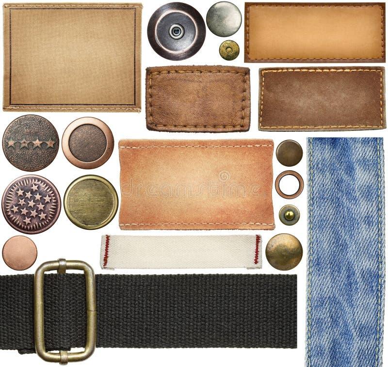Labels de jeans image libre de droits