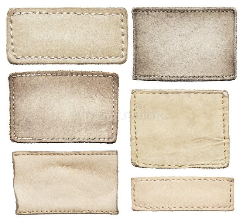 Labels de jeans images libres de droits