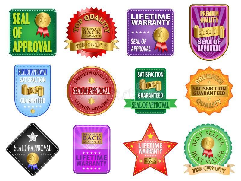 Labels de label illustration de vecteur