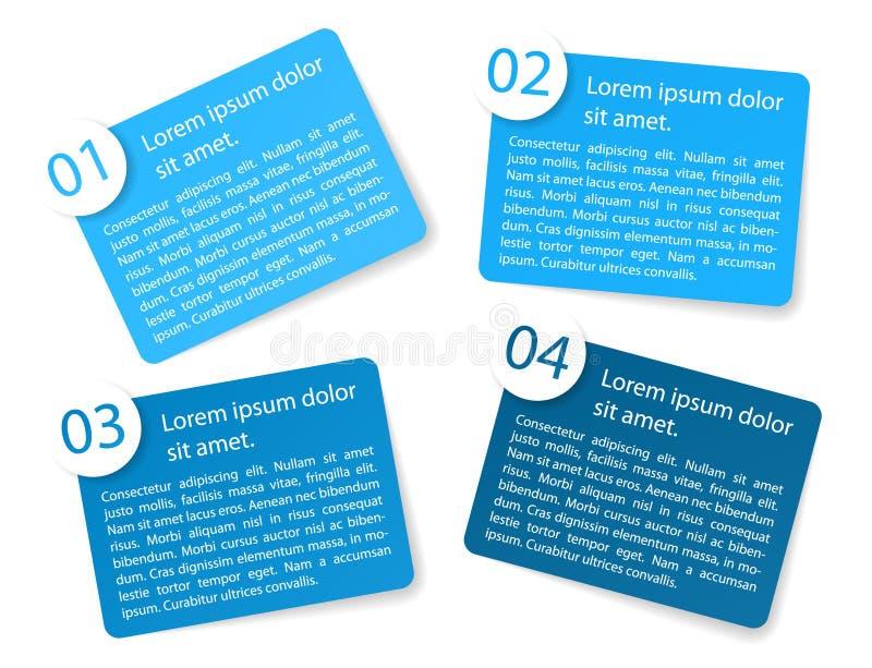 Labels de papier angulaires bleus d'option de vecteur illustration libre de droits