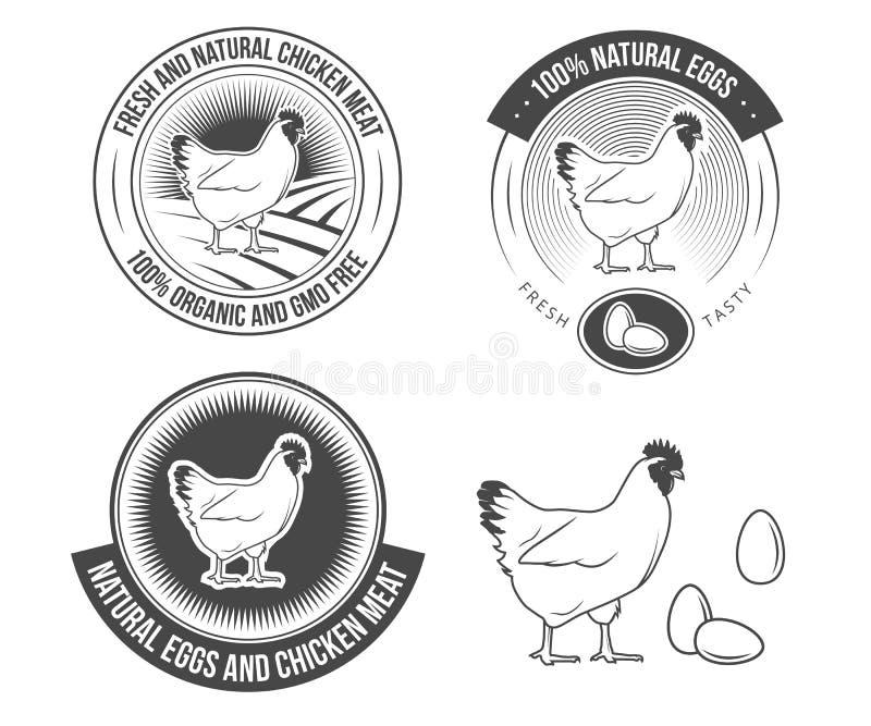 Labels de poule illustration stock