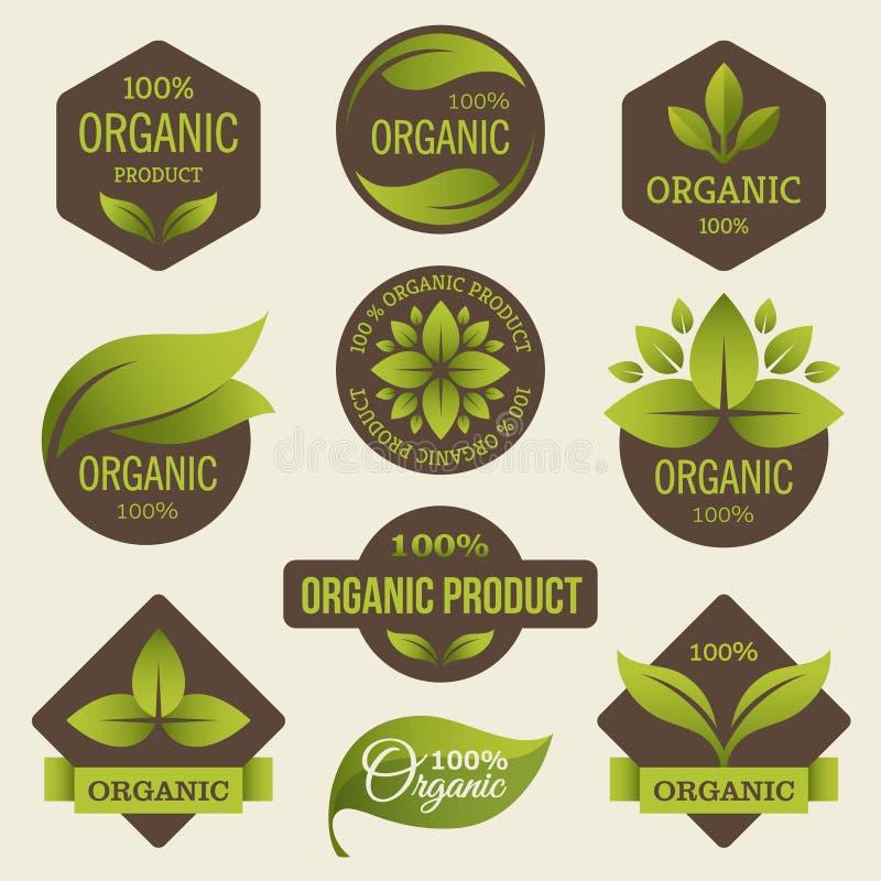 Labels de produits biologiques illustration libre de droits