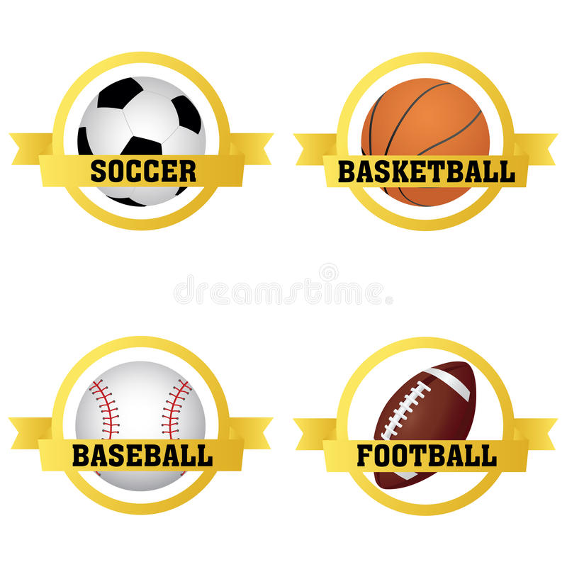 Labels De Sports Photos libres de droits