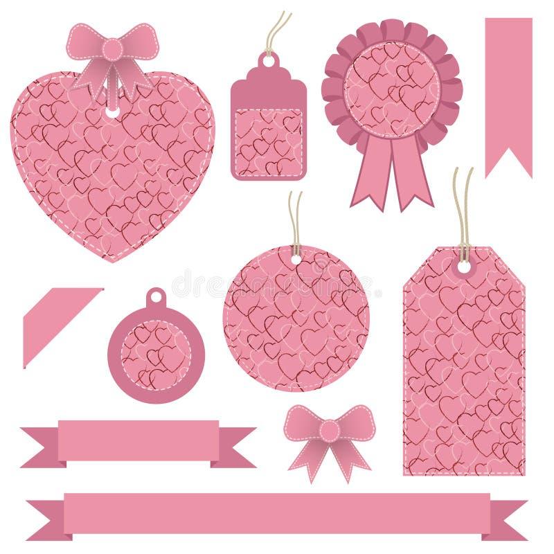 Labels de Valentine illustration libre de droits