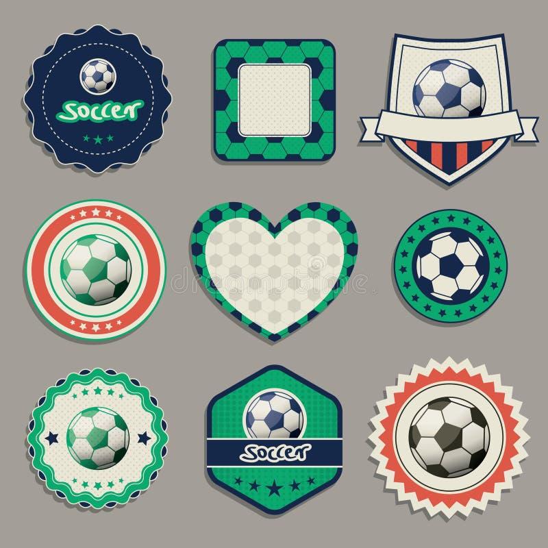 Labels du football illustration de vecteur