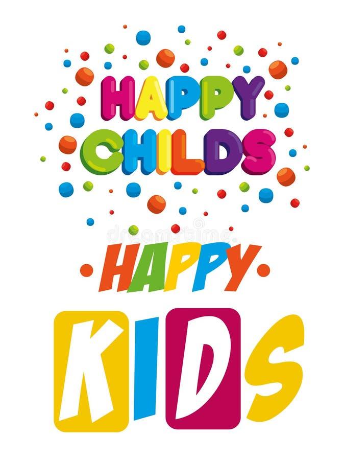 Labels heureux de zone d'enfants illustration stock