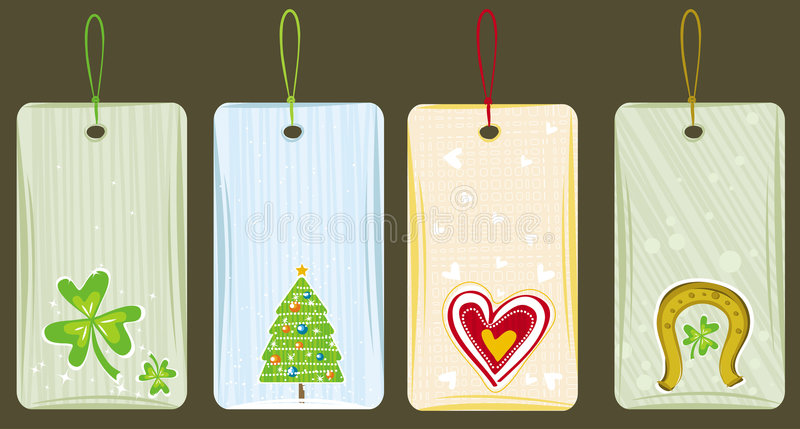 labels for holidays, vector vector illustration