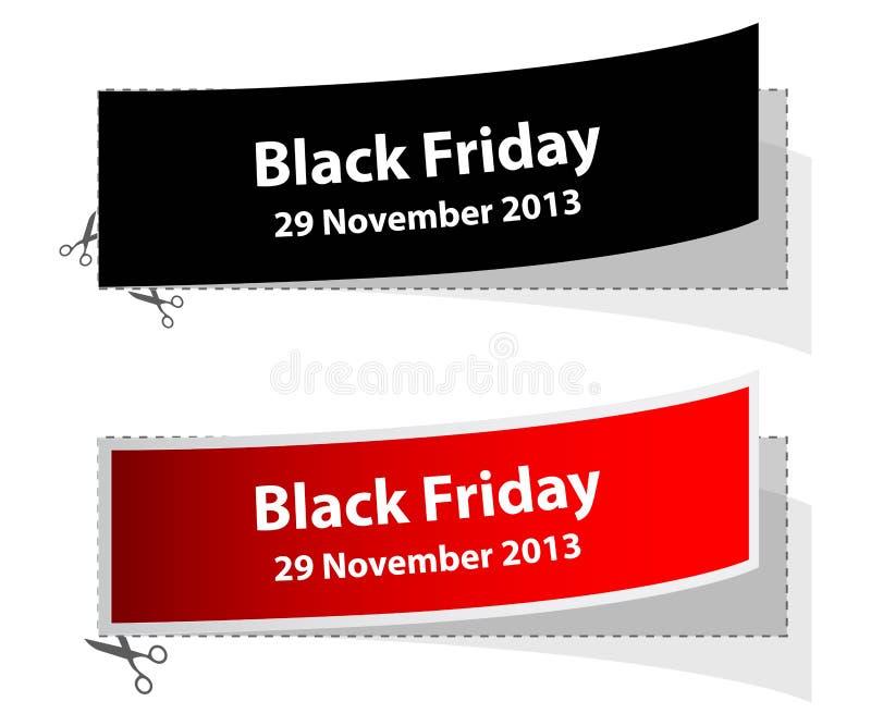 Labels noirs spéciaux de vendredi illustration de vecteur