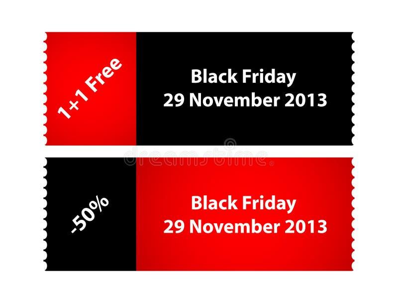 Labels noirs spéciaux de vendredi illustration stock
