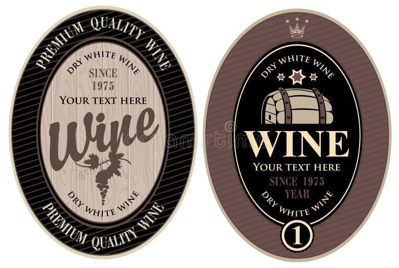 Labels pour le vin illustration de vecteur