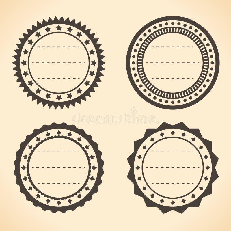 Labels ronds de vintage vide illustration libre de droits