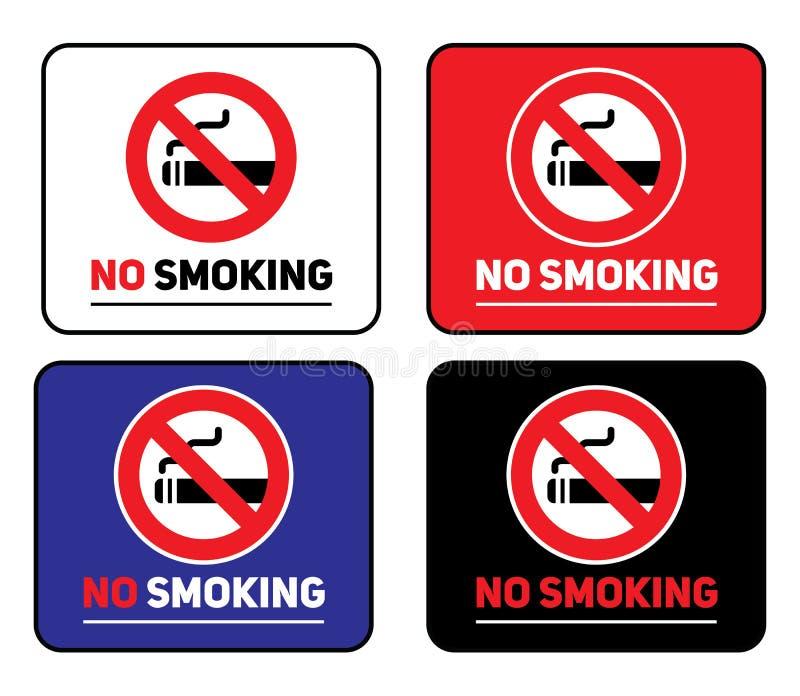 Labels set No smoking stickers stock photos