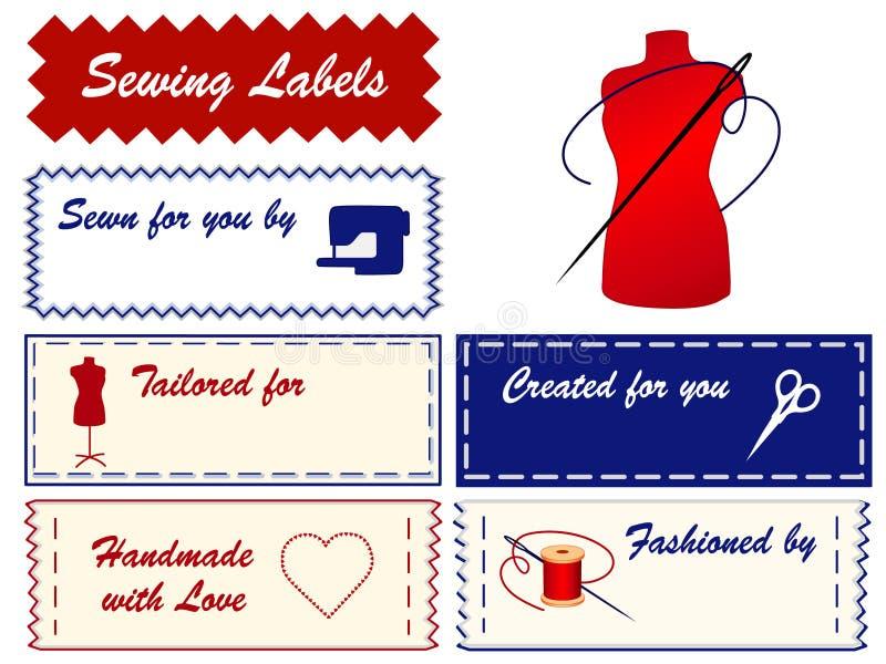 labels sewing tailoring иллюстрация штока