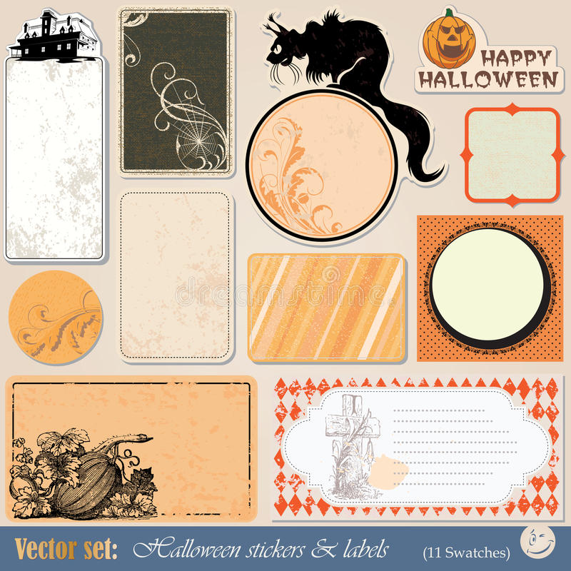 Download Labels And Stickers Halloween Stock Vector - Illustration: 21301420