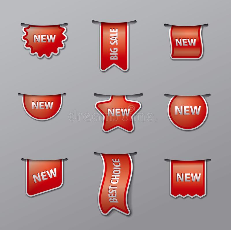 Labels and tags for sale royalty free illustration