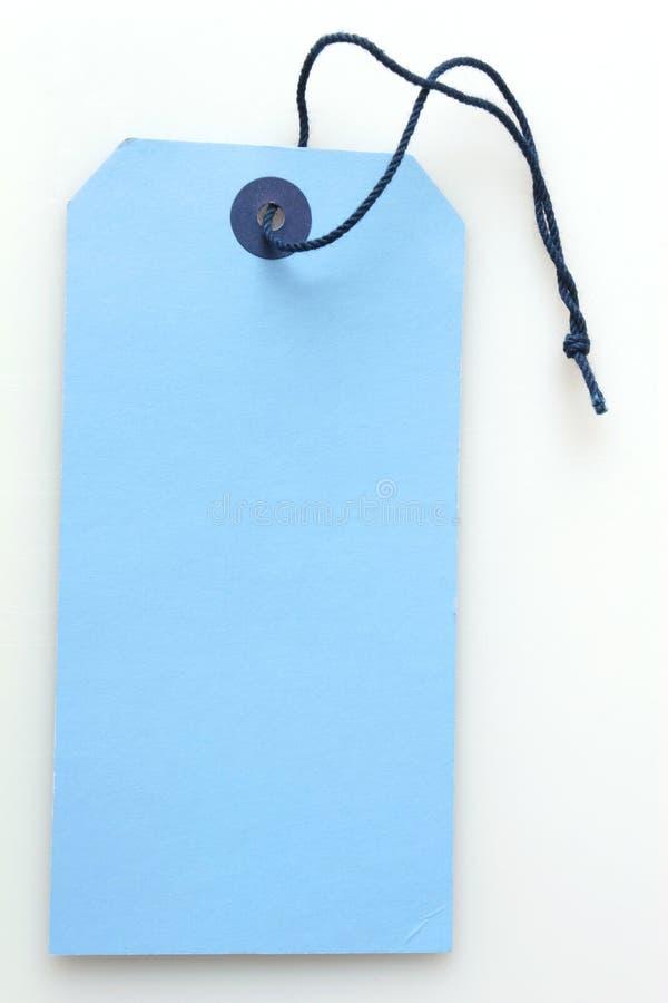 Labeltag bleu photographie stock