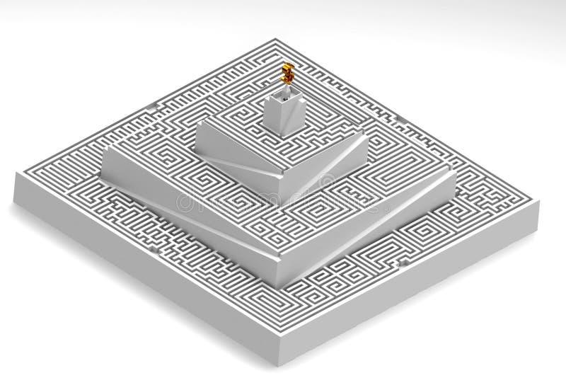 laberinto 3d ilustración del vector