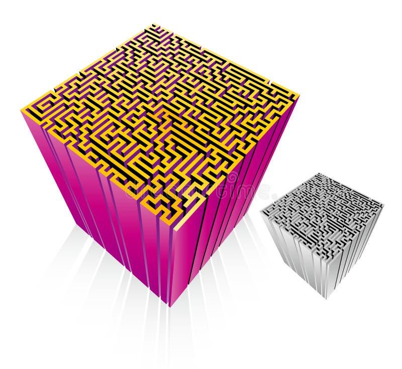 Laberinto 3D (vector) Imagenes de archivo