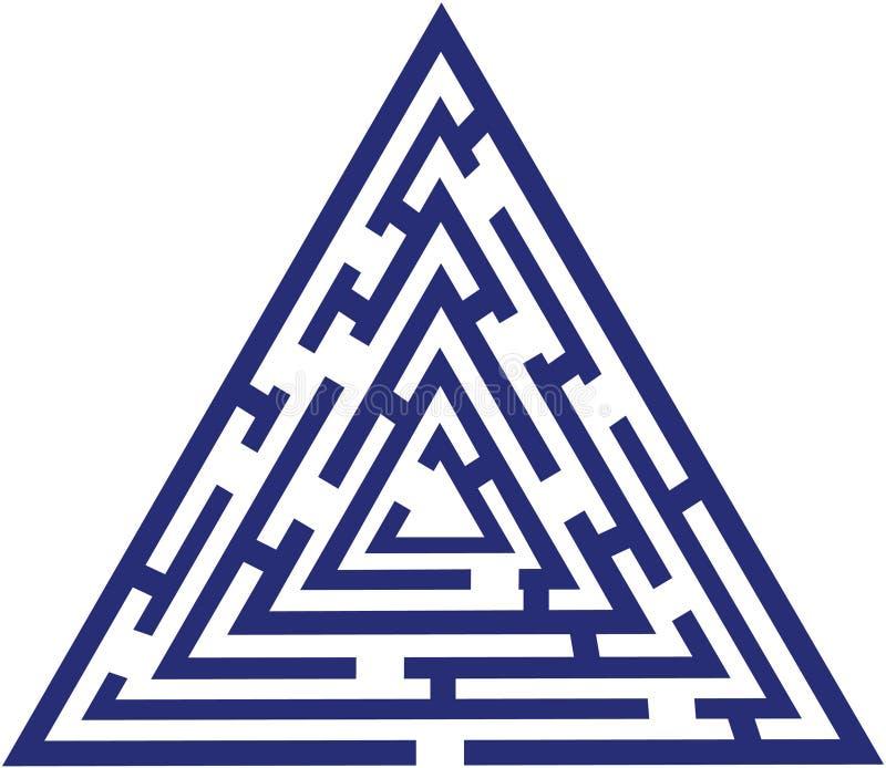 Laberinto azul stock de ilustración