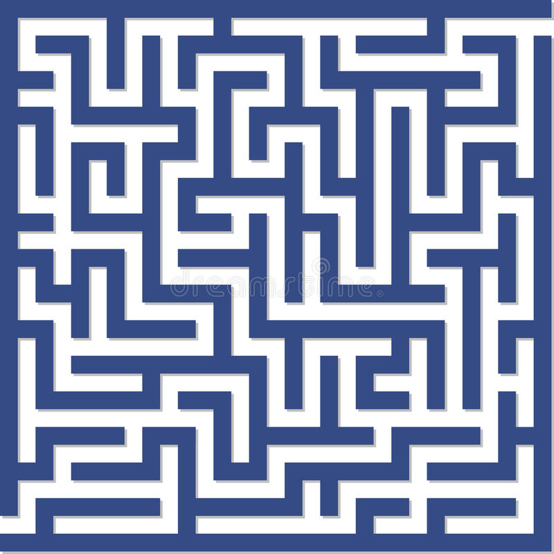 Laberinto azul ilustración del vector