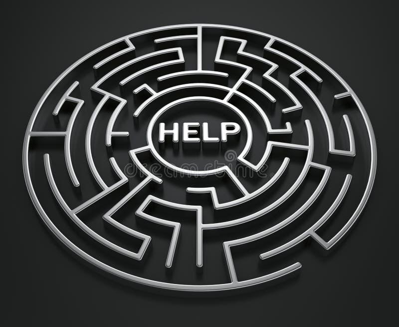 Laberinto - búsqueda para la ayuda libre illustration