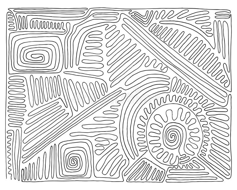 Laberinto blanco y negro a mano, garabato, vector foto de archivo