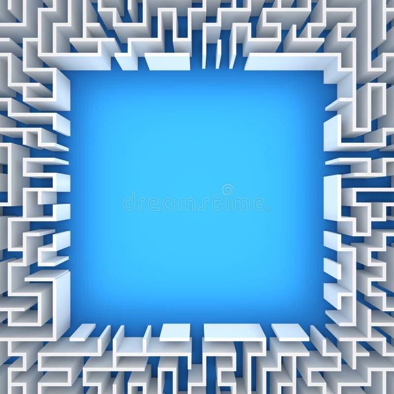 Laberinto con el espacio en blanco ilustración del vector