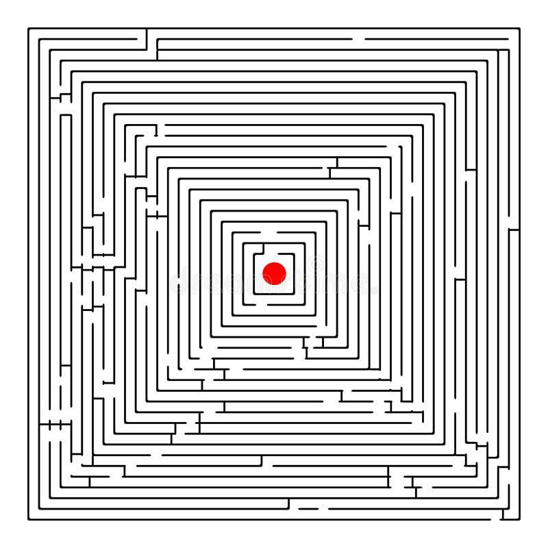 Laberinto cuadrado ilustración del vector