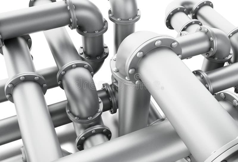 laberinto 3d del sistema de tubo stock de ilustración