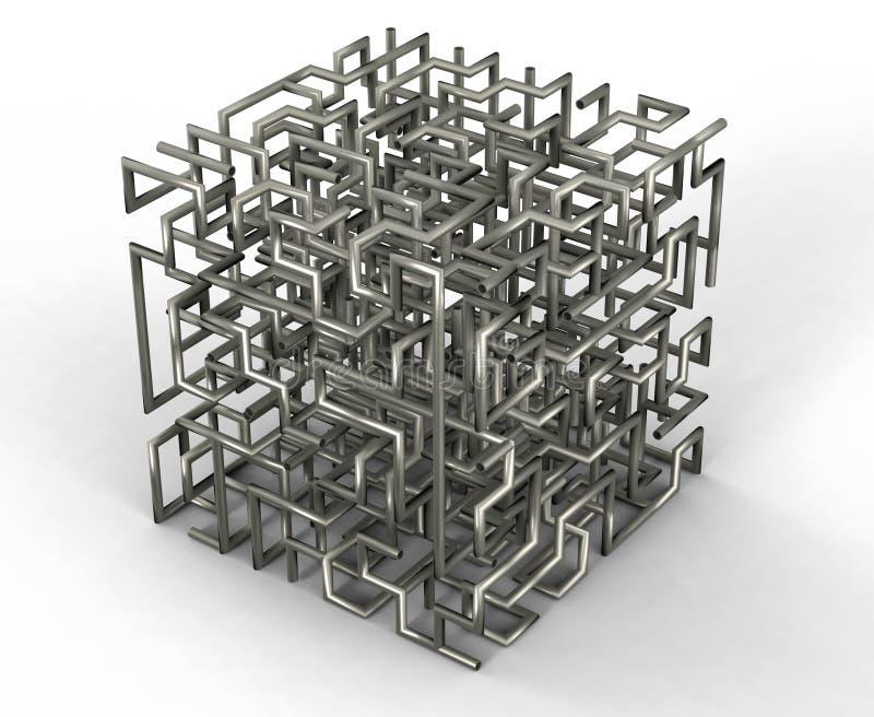 Laberinto de alambres ilustración del vector
