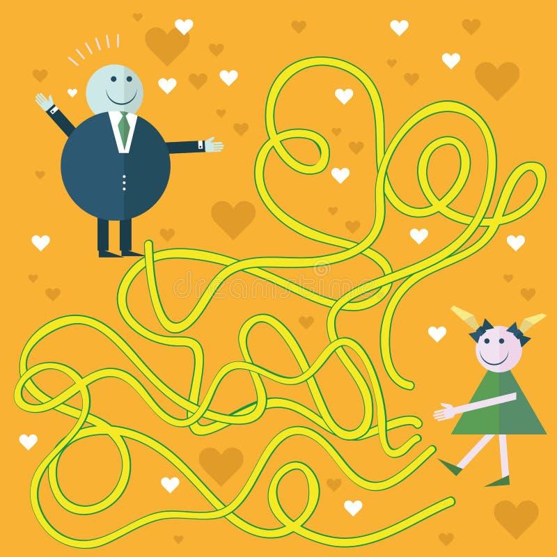 Laberinto de la educación o juego del laberinto para el preescolar libre illustration