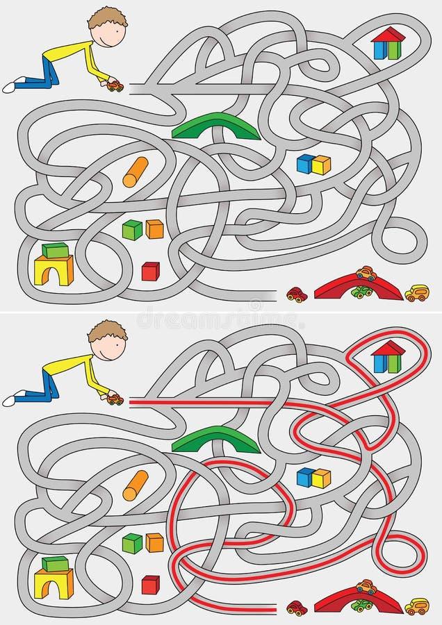 Laberinto de Little Boy ilustración del vector