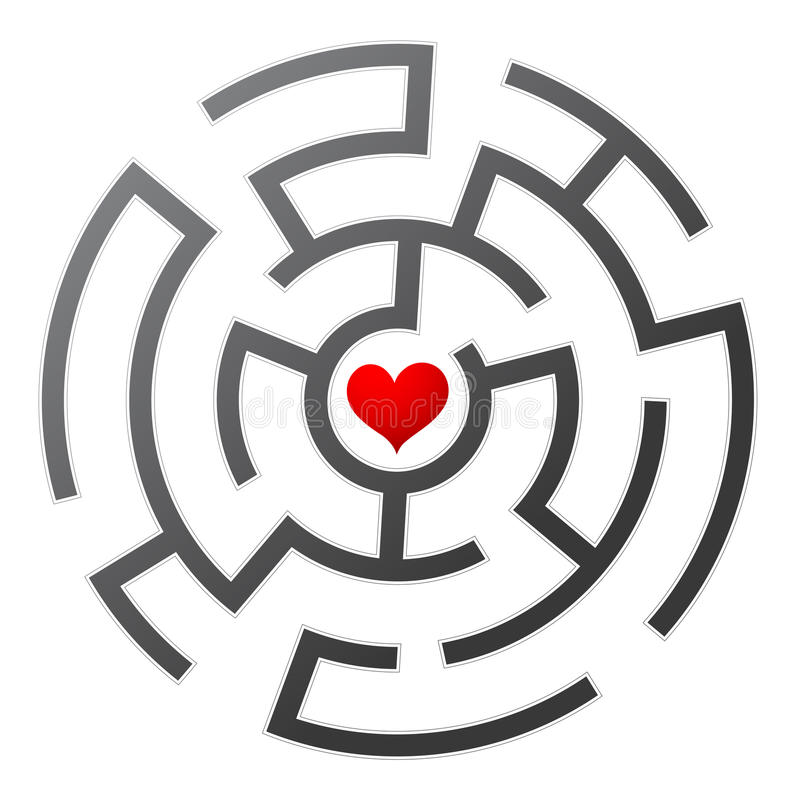 Laberinto del amor libre illustration