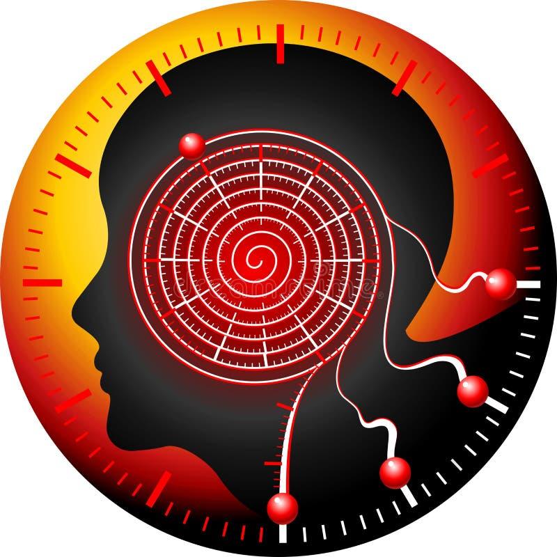 Laberinto del botón ilustración del vector