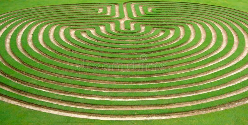 laberinto del césped o del jardín de la hierba   fotos de archivo libres de regalías
