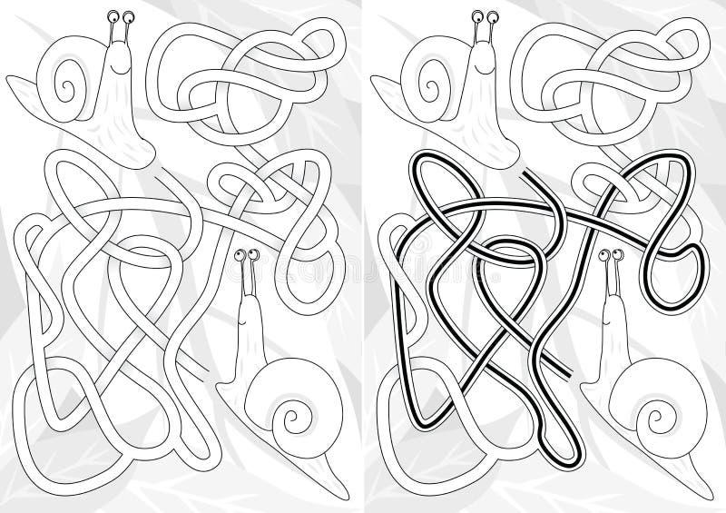 Laberinto del caracol stock de ilustración